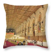 St Georges Hall At Windsor Castle Throw Pillow