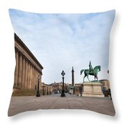 St Georges Hall, Liverpool, Merseyside Throw Pillow