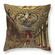 St. Georges Hall, Windsor Castle Throw Pillow