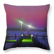 St. Georges Island Dock - Just Before Sunrise Throw Pillow