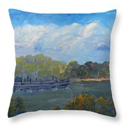 St Georges River Near Como Marina  Throw Pillow