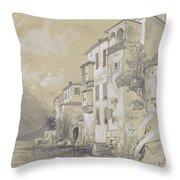 St Giulio Orta Throw Pillow by Edward Lear