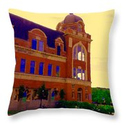 St Henri Poste De Pompiers Bureau De Poste Historic Montreal Art City Scenes Carole Spandau  Throw Pillow