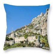 St Hilarion Castle Throw Pillow