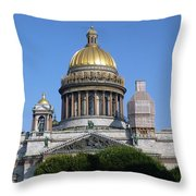 St Isaacs Cathedral Throw Pillow