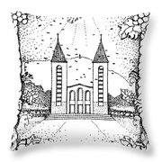 St James And Dove Throw Pillow