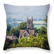St James Church Shaftesbury Throw Pillow