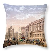 St James Palace And Conservative Club Throw Pillow