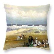 St. Jean D'acre April 24th 1839 Throw Pillow