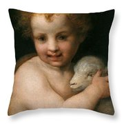 St. John The Baptist With The Lamb Throw Pillow