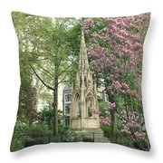 St. John The Divine Grounds Throw Pillow