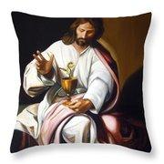 St John The Evangelist Throw Pillow