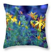 St John's Wort In The Forest Throw Pillow
