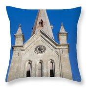 St. John's Church Cesis Throw Pillow