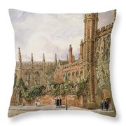 St. Johns College, Cambridge, 1843 Throw Pillow