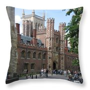 St. Johns College Cambridge Throw Pillow