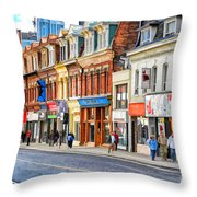Yonge Street In Toronto Throw Pillow