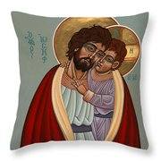 St. Joseph And The Holy Child 239 Throw Pillow