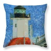 St. Joseph Lighthouse Lake Michigan Throw Pillow