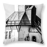 St. Joseph Lighthouse Vertical Panorama Picture  Throw Pillow