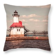 St. Joseph Lighthouse Vintage Picture  Photo Throw Pillow
