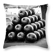 St. Joseph Michigan Cannon Balls Picture Throw Pillow by Paul Velgos