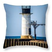 St. Joseph Outer Lighthouse Photo Throw Pillow