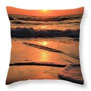 St. Joseph Sunset Swirls Throw Pillow