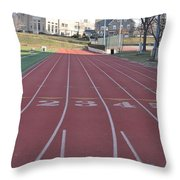 St Josephs University Track Throw Pillow