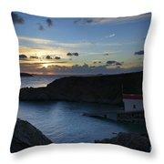 St Justinian Sunset Throw Pillow