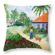 St Lawrence Gap Throw Pillow
