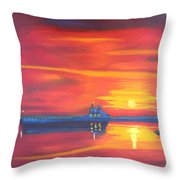 St Lawrence River December Sunrise Throw Pillow