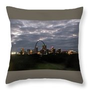 St. Louis Arch At Dusk From The Train Throw Pillow