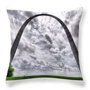 St Louis Arch Throw Pillow