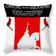 St. Louis Cardinals 1931 World Series Program Throw Pillow