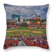 St Louis Cardinals Busch Stadium Dsc06139 Throw Pillow