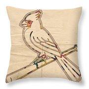 St Louis Cardinals Logo Art Throw Pillow