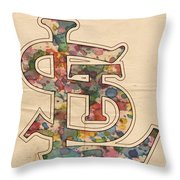 St Louis Cardinals Logo Vintage Throw Pillow