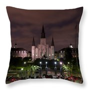 St. Louis Cathedral In Jackson Square Throw Pillow