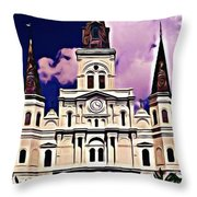 St Louis Cathedral In New Orleans Throw Pillow