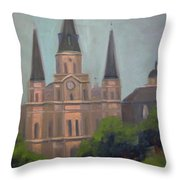 St. Louis Cathedral Throw Pillow by Lilibeth Andre
