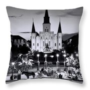 St. Louis Cathedral New Orleans Throw Pillow