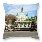 St Louis Cathedral New Orleans Throw Pillow
