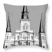 St Louis Cathedral Poster 1 Throw Pillow