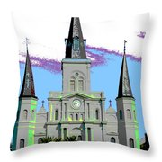 St Louis Cathedral Poster 2 Throw Pillow