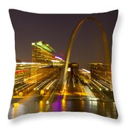 St Louis Skyline With Special Zoom Effect Throw Pillow