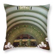 Ornate St. Louis Station Throw Pillow