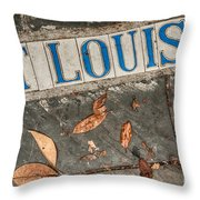 St Louis Street Tiles In New Orleans Throw Pillow