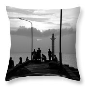 St Lucia Anse La Raye 01 Throw Pillow