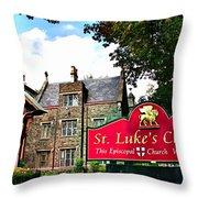 St Lukes Church Throw Pillow